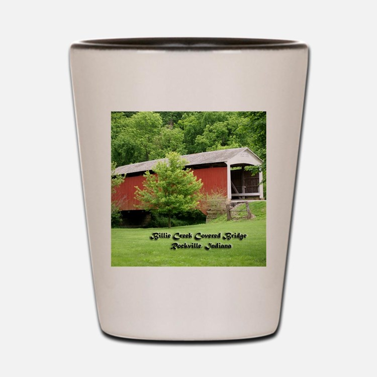 Billie Creek Covered Bridge Shot Glass