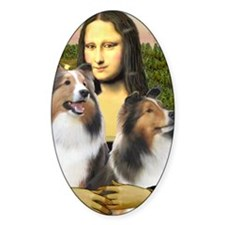 MP-Mona Lisa - 2 Shelties (D&L) Decal