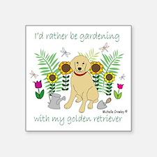 """3-GoldenRetriever Square Sticker 3"""" x 3"""""""