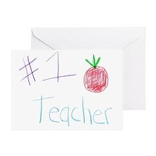 CKA-8-MP  #1 Teacher Greeting Card