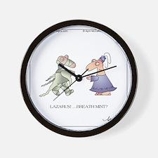 LAZARUS! by April McCallum Wall Clock