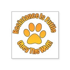 """Obey The Wolf Square Sticker 3"""" x 3"""""""