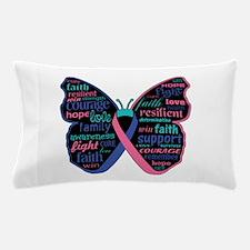 Butterfly Thyroid Cancer Pillow Case