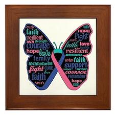 Butterfly Thyroid Cancer Framed Tile