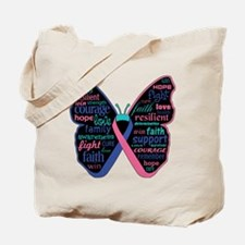 Butterfly Thyroid Cancer Tote Bag