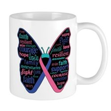 Butterfly Thyroid Cancer Mug