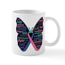 Butterfly Thyroid Cancer Mug