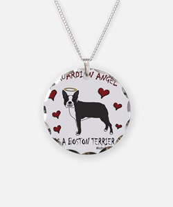 BostonTerrierBlk Necklace Circle Charm