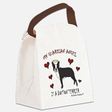 BostonTerrierBlk Canvas Lunch Bag