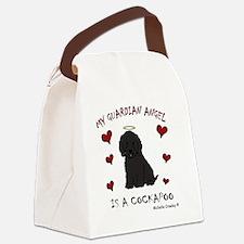 CockapooBlk Canvas Lunch Bag