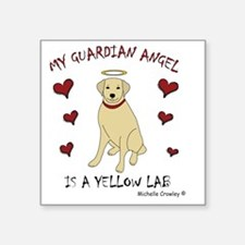 "3-YellowLab Square Sticker 3"" x 3"""