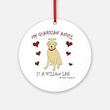 3-YellowLab Round Ornament