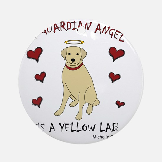 3-YellowLab Round Ornament