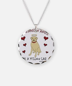 3-YellowLab Necklace Circle Charm