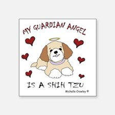 "2-ShihTzuTan Square Sticker 3"" x 3"""