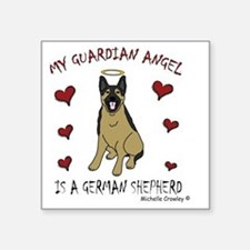 "2-GermanShepherd Square Sticker 3"" x 3"""