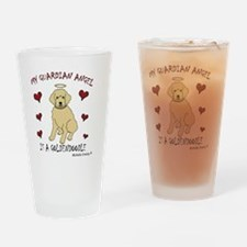 2-Goldendoodle Drinking Glass