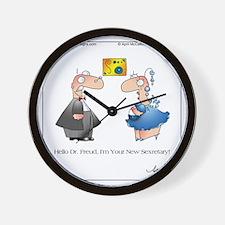 FREUDIAN SLIP by April McCallum Wall Clock