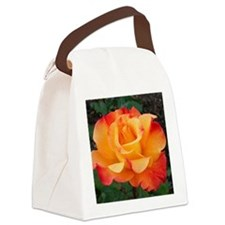 Orange Red Rose Canvas Lunch Bag