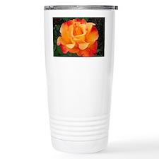 Orange Red Rose Travel Coffee Mug