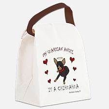 ChihuahuaBlkTan Canvas Lunch Bag