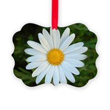 White Daisy Ornament