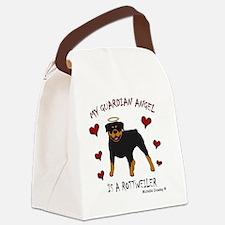 2-Rottweiler Canvas Lunch Bag