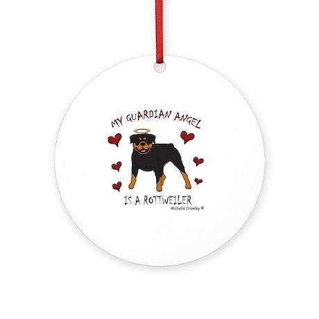 2-Rottweiler Round Ornament