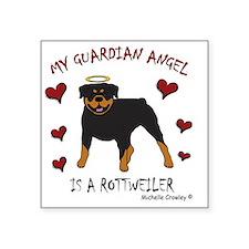 "2-Rottweiler Square Sticker 3"" x 3"""