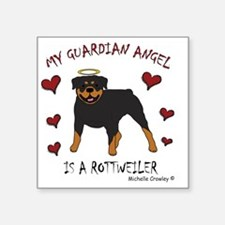 "2-Rottweiler Square Sticker 3"" x 3"""