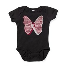 Butterfly Throat Cancer Baby Bodysuit
