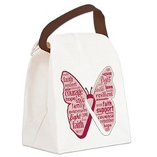 Butterfly Throat Cancer Canvas Lunch Bag