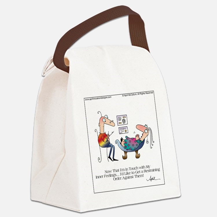 INNER FEELINGS by April McCallum Canvas Lunch Bag