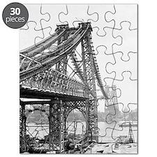 Williamsburg Bridge Construction Puzzle