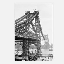 Williamsburg Bridge Const Postcards (Package of 8)