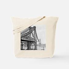 Williamsburg Bridge Construction Tote Bag