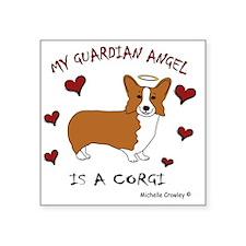 "CorgiTan Square Sticker 3"" x 3"""