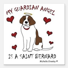"SaintBernard Square Car Magnet 3"" x 3"""