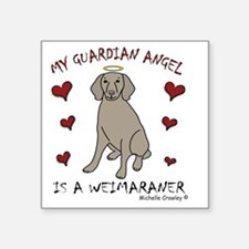"4-Weimaraner Square Sticker 3"" x 3"""