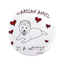 """8-Westie 3.5"""" Button"""