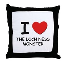 I love the loch ness monster Throw Pillow