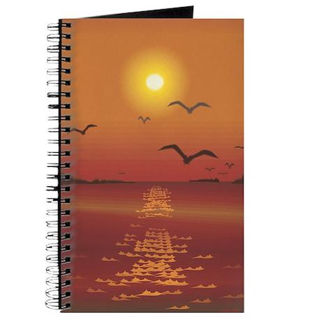 Seagulls Sunset Journal
