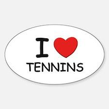 I love tennins Oval Decal