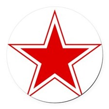 URSS_Russian_aviation_red_star_sv Round Car Magnet