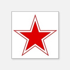 """URSS_Russian_aviation_red_s Square Sticker 3"""" x 3"""""""