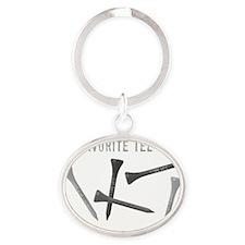 My Favorite Tee Shirt Oval Keychain