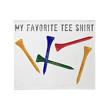 My Favorite Tee Shirt Throw Blanket