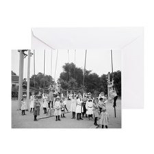 Girls Playground Greeting Card