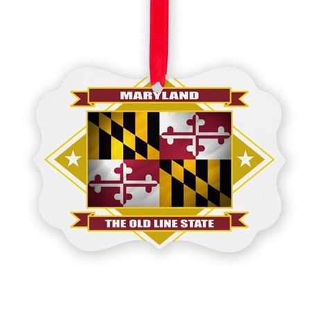 Maryland diamond Picture Ornament