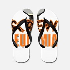 Screw Leukemia Flip Flops